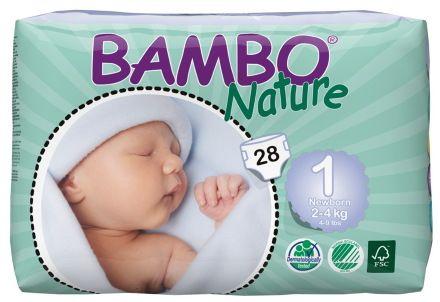 Bambo Nature New Born plenové kalhotky 2-4kg 28 ks