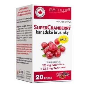 Barnys SuperCranberryTM kanadské brusinky 20 kapslí