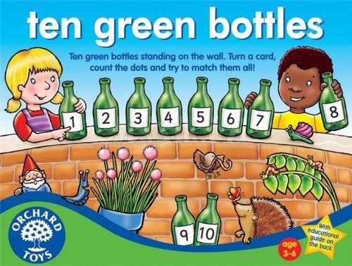 Orchard Toys Deset zelených lahví