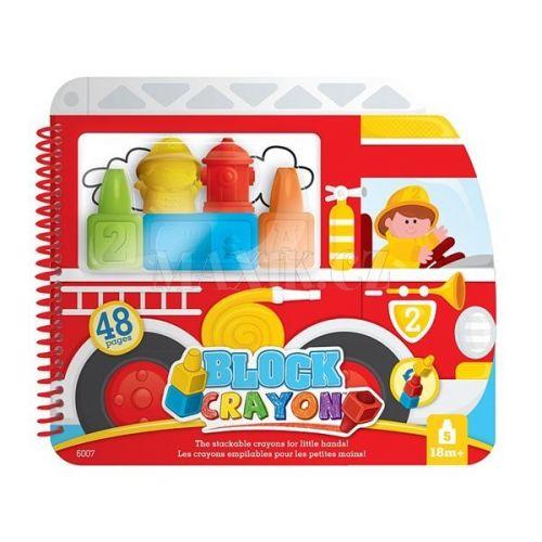 Wooky Block Crayon omalovánky hasiči cena od 0 Kč