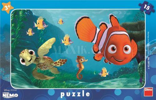 Nemo a želva - rámové puzzle 15 dílků