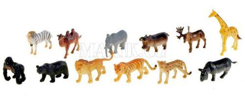 Teddies Zvířátka safari 12 ks cena od 69 Kč