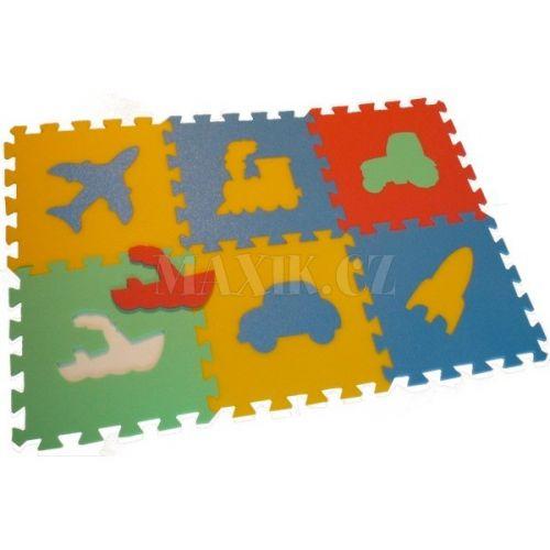 Malý Génius Pěnový koberec MAXI 6 dopravní prostředky