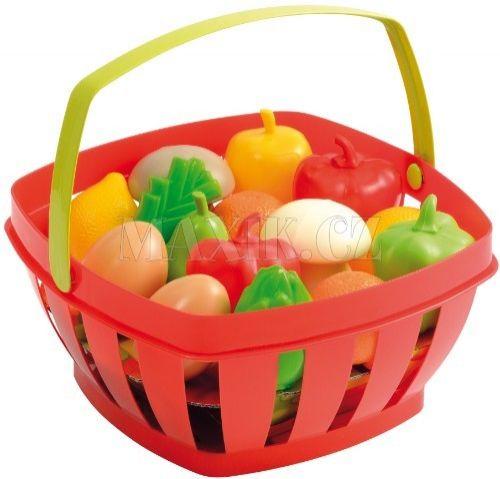 Ecoiffier Potraviny v nákupním košíku 22 cm cena od 195 Kč