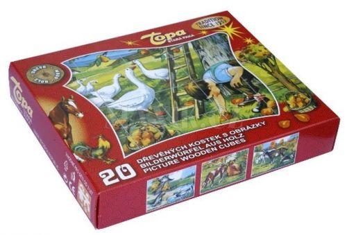 Topa Kostky kubus Domácí zvířátka cena od 299 Kč