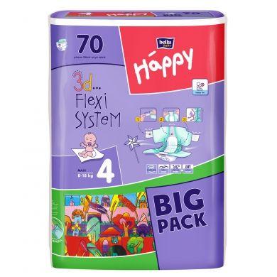 Bella Happy Maxi vel. 4 dětské pleny (8-18 kg) 70 kusů