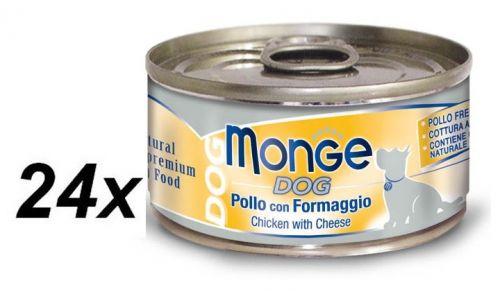 Monge Dog Natural kuřecí maso se sýrem 24 x 95 g