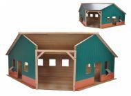 Kids Globe Garáž dřevěná farma 1:16