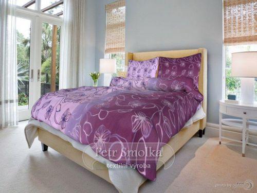 Smolka Stvoly fialové bavlněné povlečení