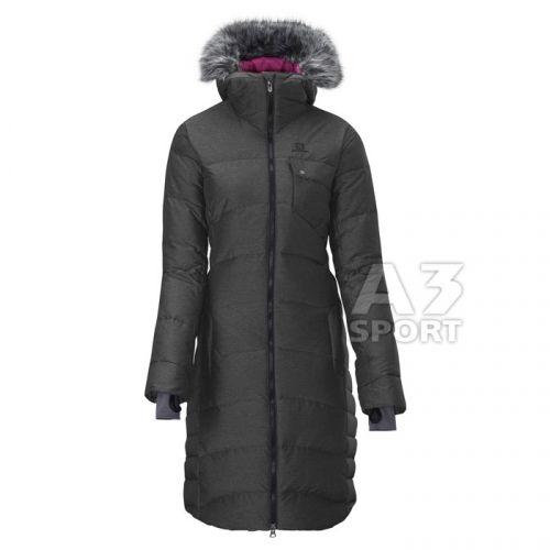 salomon COTEAUX LONG W CHARCOAL HEATHER kabát - Srovname.cz a3e89e31e1