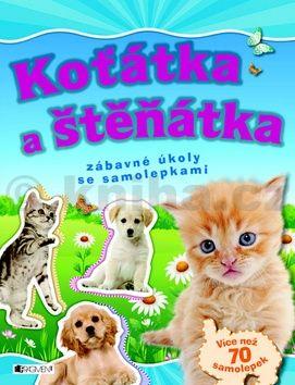 Koťátka a štěňátka – zábavné úkoly se samolepkami cena od 49 Kč