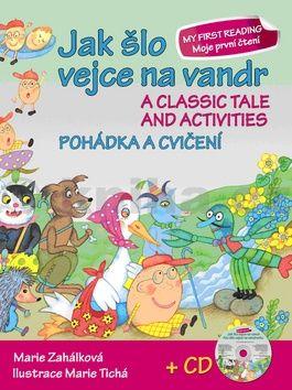 Marie Zahálková: Jak šlo vejce na vandr Pohádka a cvičení + CD cena od 36 Kč