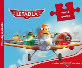 Walt Disney: Letadla - kniha puzzle cena od 61 Kč