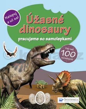 Úžasné dinosaury pracujeme so samolepkami cena od 75 Kč