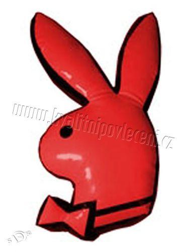 TRENDIMPORT Playboy červený králíček polštářek