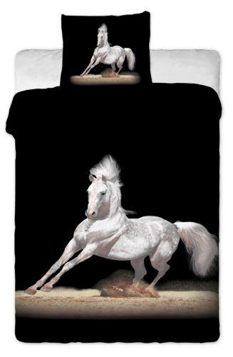 JERRY FABRICS Kůň černý povlečení