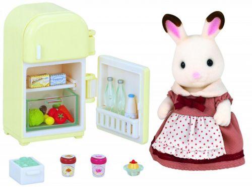 Sylvanian Families Nábytek chocolate králíků mamka u ledničky cena od 275 Kč