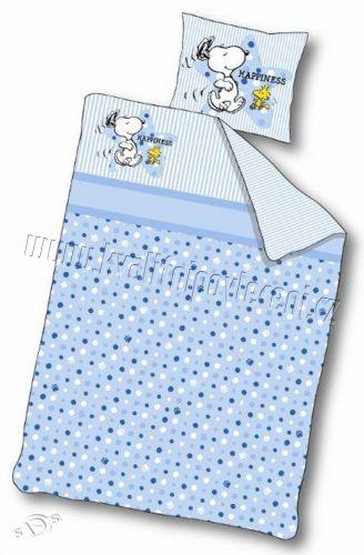 CONTRAST Snoopy modrý povlečení