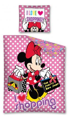 DETEXPOL Minnie I Love Shopping povlečení