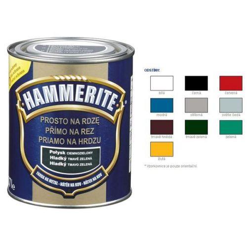 Hammerite Barva přímo na rez hladký černý 0,25 l