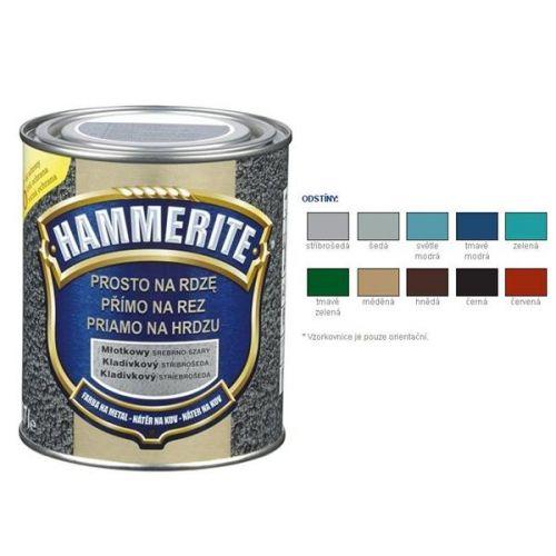 Hammerite Barva přímo na rez kladívkový šedý 2,5 l