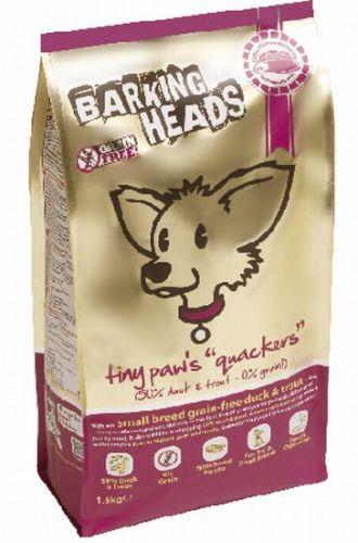 BARKING HEADS TINY PAWS QUACKERS GRAIN FREE 1,5 kg cena od 362 Kč