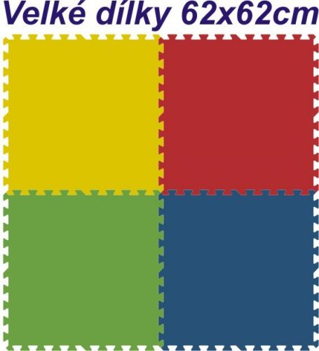 Malý neposeda Pěnové puzzle koberec 4 dílky