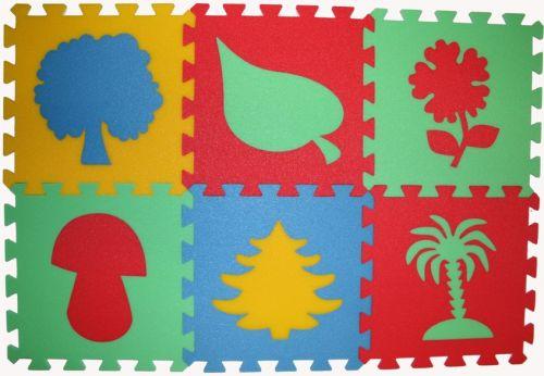Malý neposeda Pěnový koberec puzzle Rostliny