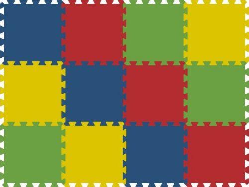 Malý neposeda Pěnové puzzle koberec 12 dílků
