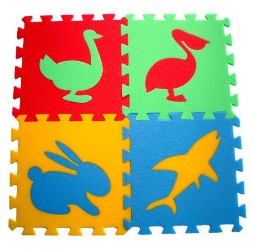 Malý neposeda Pěnový koberec puzzle Zvířátka IV