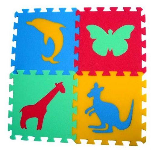 Malý neposeda Pěnový koberec puzzle Zvířátka III cena od 299 Kč