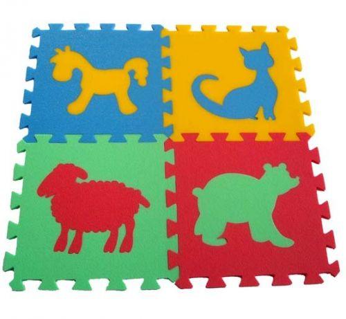 Malý neposeda Pěnový koberec puzzle Zvířátka