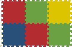 Malý neposeda Pěnové puzzle koberec 6 dílků cena od 189 Kč