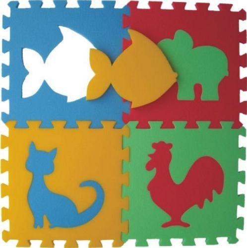 Malý neposeda Pěnový koberec puzzle Zvířátka VI