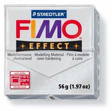 STAEDTLER FIMO effect stříbrná jemná 56 g cena od 47 Kč