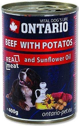 ONTARIO konzerva Beef, Potatos, Sunflower Oil 400 g