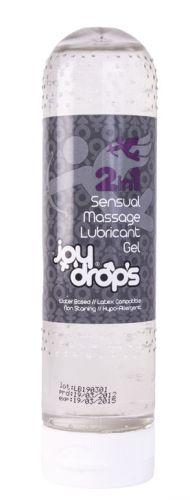 JoyDrops 2v1 masážní a lubrikační gel 150 ml