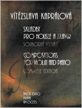 Amos editio Kaprálová Vítězslava | Skladby pro housle a klavír | Noty na housle