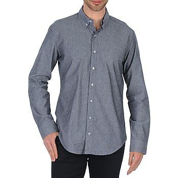 American Apparel PINPOINT OXFORD LONG SLEEVE BUTTON-DOWN košile