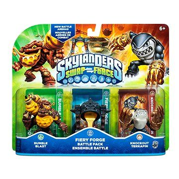 Activision Skylanders: Swap Force Fiery Forge Battle Pack Rumble Blast+Fiery Forge+Knouckout Terafin