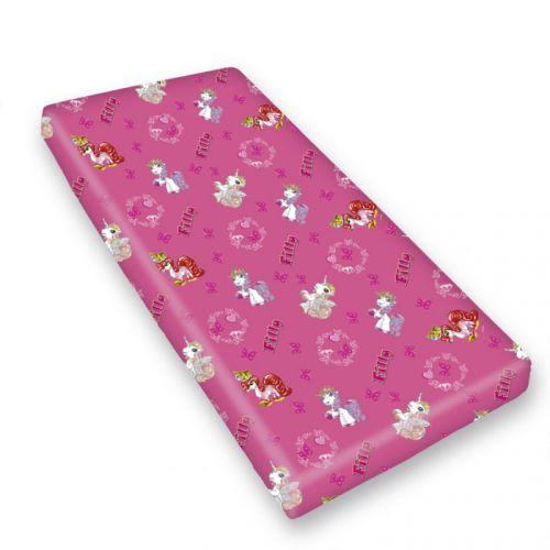 HERDING Poník Filly růžové bavlněné prostěradlo