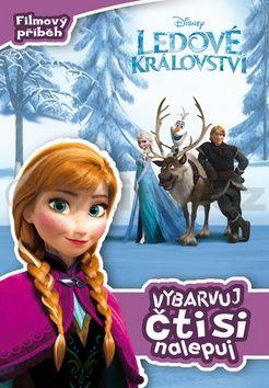 Walt Disney: Ledové království - Filmový příběh: vybarvuj, čti si, nalepuj cena od 80 Kč