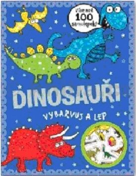 Dinosauři - vybarvuj a lep cena od 0 Kč