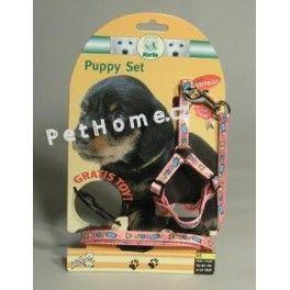 Karlie Postroj štěně nylon+vodítko 15-30 cm/130 cm