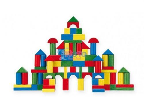 WOTO Skládací dřevěné barevné kostky 60 ks