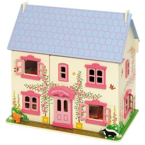 Bigjigs Toys Dřevěný domeček pro panenky