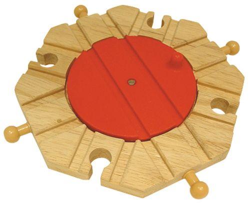 Bigjigs Toys Dřevěná vláčkodráha točna