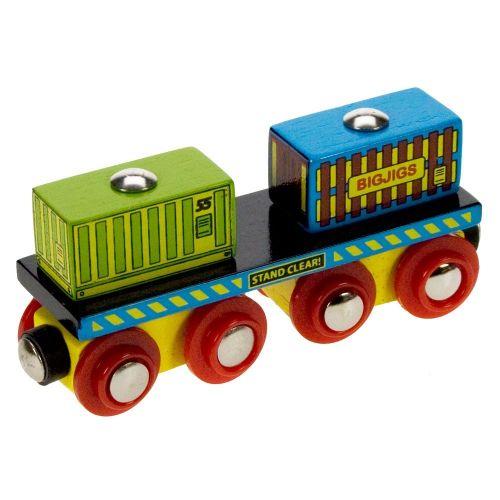 Bigjigs Rail Vagónek se dvěma kontejnery