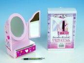 Teddies Zrcadlo Princess 3-dílné se zásuvkou cena od 284 Kč