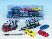 Mikro Trading Auto přepravník + 3 auta 1:60 27 cm cena od 171 Kč